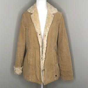 A&F Teddy Bear Tan Jacket Coat